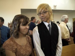 My boyfriend and I at a wedding last year. I make the loveliest faces, I know.