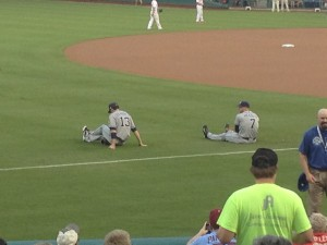 Baseball players foam roll and theraband just like ballerinas do!